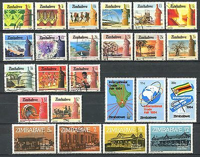 ZIMBABWE Small Lot of Mint (MNH) & Used Stamps CV 11.50