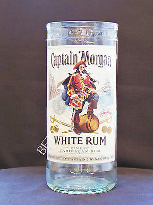 Captain Morgan White Rum Large Hi-Ball Glass / Vase -100% Recycled- Unique Gift!