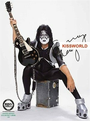 Kiss - Tommy Thyer Hand Signed Rock The Nations  8 X 10 Photo  Kissworld New