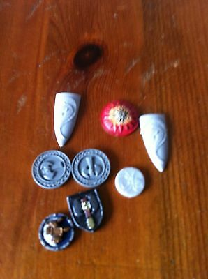 Warhammer  shield x 8 mixed shapes Plastic and OOP Dwarf, High elf and Goblin