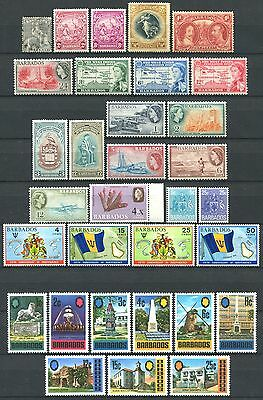 BARBADOS Lot of Mint Stamps + 1 Used Stamp from 1875 CV 17.00+