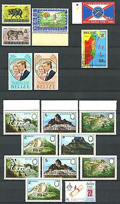 BELIZE Lot of Mint Stamps incl. some Doubles + 1 Used Stamp