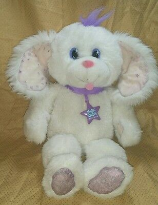 Magic Glow Friends Puppy dog plush soft toy doll white Vintage 1992 1990s Flawed