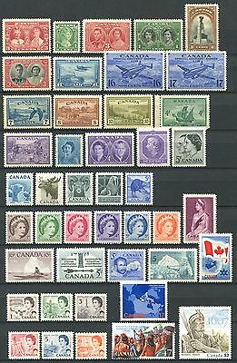 CANADA Lot of Mint Stamps mostly MNH CV 30.00+