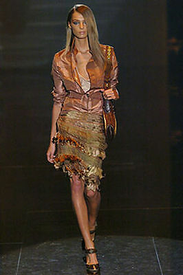 AUTHENTIC GUCCI Spring 2005 RUNWAY Silk TASSEL Skirt Italy 40 - AU 10