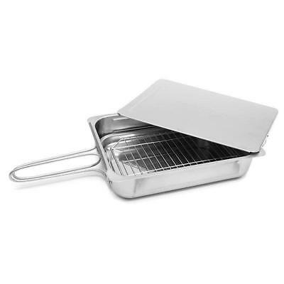 Stainless Steel Stovetop Smoker with Instruction Book