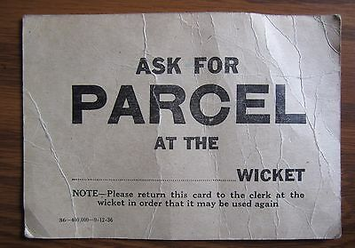1936 Canadian Parcel Postcard Canada Post Pickup Mail Delivery Postal