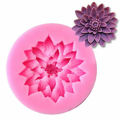 3D Lotus Flower Silicone Mould Fondant Candy Cake Chocolate Decorating Mold DIY
