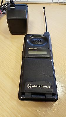 Vintage Motorola Microtac II mobile phone with battery and charger