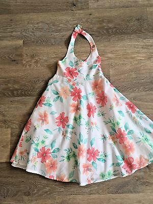 Girl's Halterneck Summer Dress Age 5 years  Great Condition