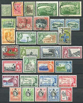 JAMAICA Lot of Mint MH / MNH & Used Stamps CV 17.55