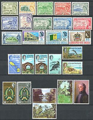 ST. CHRISTOPHER-NEVIS-ANGUILLA Lot of Mint Stamps mostly MNH CV 16.50