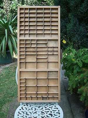 Vintage Wooden Letterpress Tray/printers Drawer