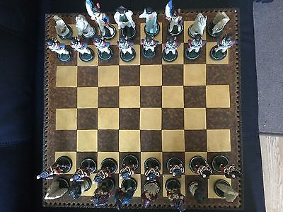 Battle Of Waterloo Chess Set / Napoleonic Wars /  With Wooden Board