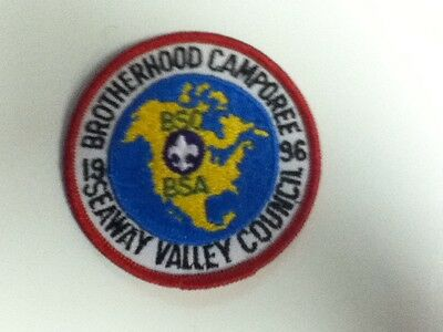 Boy Scouts America/Canada 1996 Brotherhood Camporee Seaway Valley Council Patch