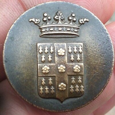 Large French Livery Button .Duke Peerage