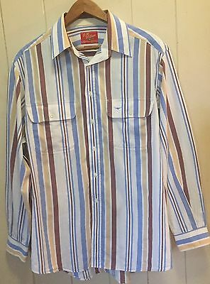 Striped R.M. Williams Long Sleeved Shirt - Size Large