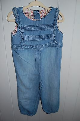 Baby denim romper playsuit. A must See, In great condition.