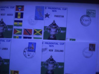 Cricket Prudential Cup 1975. 8 International Covers in Very Good Condition.