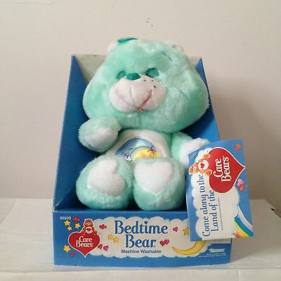 "Vintage Care Bear - ""Bedtime Bear"" - NOS Still On Box - 80's Gold! - Rare"