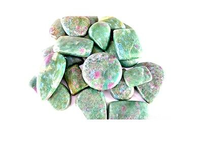 Crystal Healing Chakra Stone Ruby Fuchsite Cabochon 1200cts Loos Gemstone