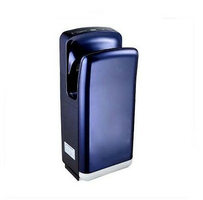 Navy Blue Wall Mounted Automatic Induction Double Jet Blade Hand Dryer Machine