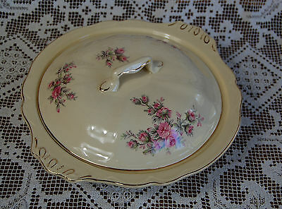 Vintage Johnson Brothers China 'Victorian' Tureen - Floral Pink Shabby Roses