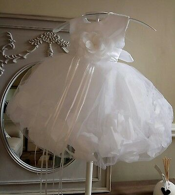 christening dress bridesmaid flower girl wedding party cake smash gown petal