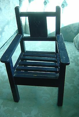 Chair for Teddy or Dolls Display Vintage Probably 1920s or Earlier