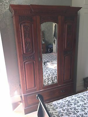 Antique Wardrobe/ Hall Cupboard/ Armoire - victorian style