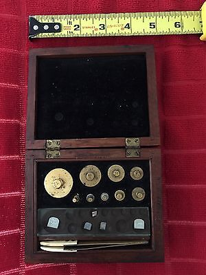 Vintage Scientific Scale Weights Weight Kit Set Voland And Sons Inc