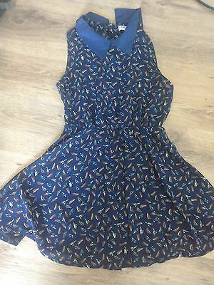 Bird dress peter pan collar brand new size 10