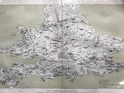 Our National Defences, Map Of Britain's Defences Against invasion In 1888