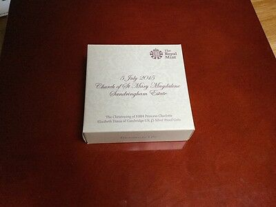 Royal Mint Christening of Princess Charlotte £5 Silver Proof Coin