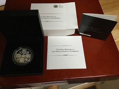 Royal Mint First Birthday of Prince George £5 Silver Proof Coin