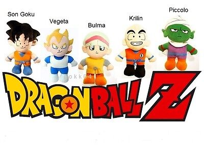 Dragon Ball Z peluche 30 cm au choix: Son Goku Vegeta Bulma Krilin Piccolo plush