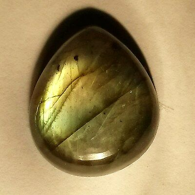18.5ct/3.7g Gold & Blue Pear Labradorite Polished Pendant Type Bead Cabochon L94