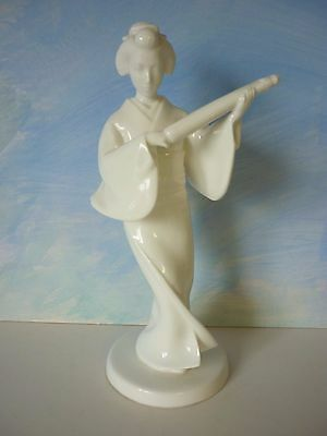 Vintage Noritake Nippon White Bone China Geisha Girl / Lady Figure