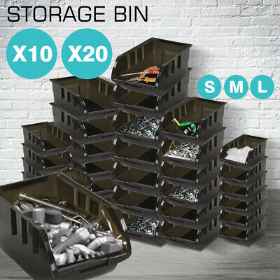 New 10/20PCS Quality 100% Recycled Plastic Parts Storage Bins Boxes 3 SIZES
