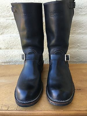 WESCO Men's 11.5 EE Black Leather Motorcycle ENGINEER Boots