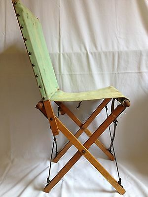 Wwii British Army Officer's Chair 1943 - Ww2 Folding