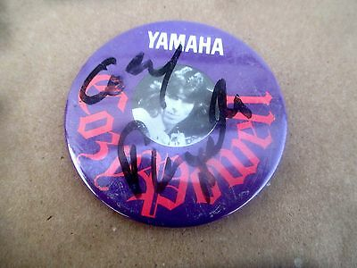 1982 YAMAHA PROMO BUTTON SIGNED by COZY POWELL