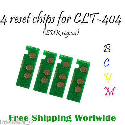 SET of Toner Reset Chips CLT-404S for Samsung CLP-430 C480 W FN FW