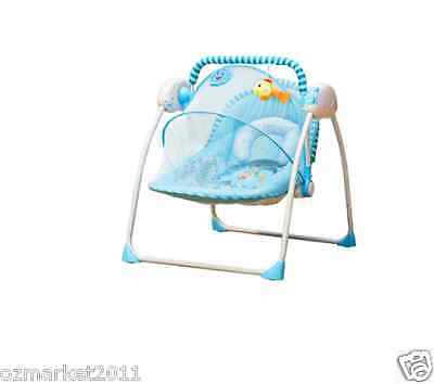 Security Blue Automatic Baby Music Swing Chair/Electric Rocking Chair QX