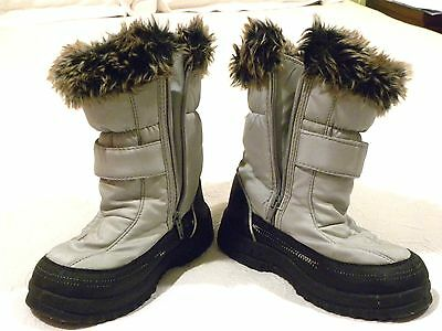 Girls Apres Snow Boots Size UK1/2 EU 33/34