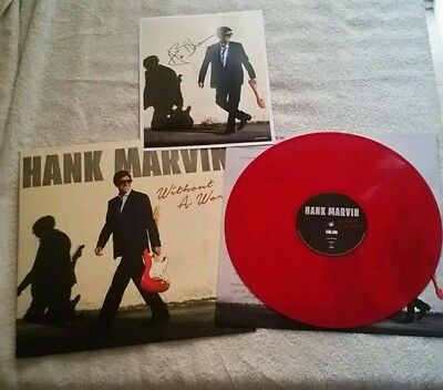 Hank Marvin Without A Word Signed Lp Limited Edition On Red Vinyl Only 500