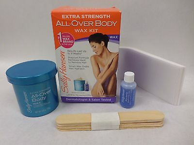 Sally Hansen All Over Body Wax Kit Extra Strength Hair Removal New in Box