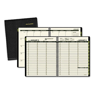 At-A-Glance Recycled Weekly/Monthly Classic Appointment Book 6 7/8 x 8 Black