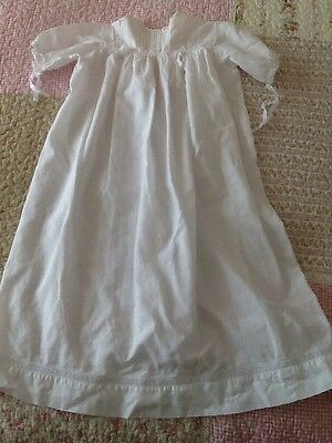 Vintage Baby Gown Dress fine white cotton suit Antique Baby Doll (2)