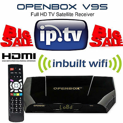100% GENUINE OPENBOX V9S WITH 12 MONTH IPTV WARRANTY, WiFi BUILT-IN